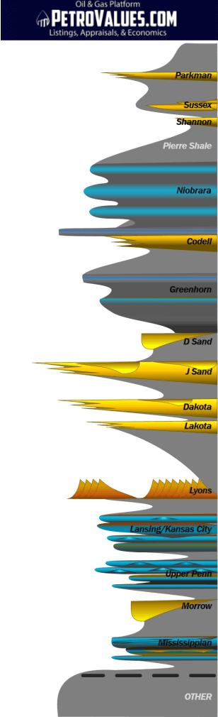 PetroValues Stratigraphic Column-Denver-Julesburg-Basin