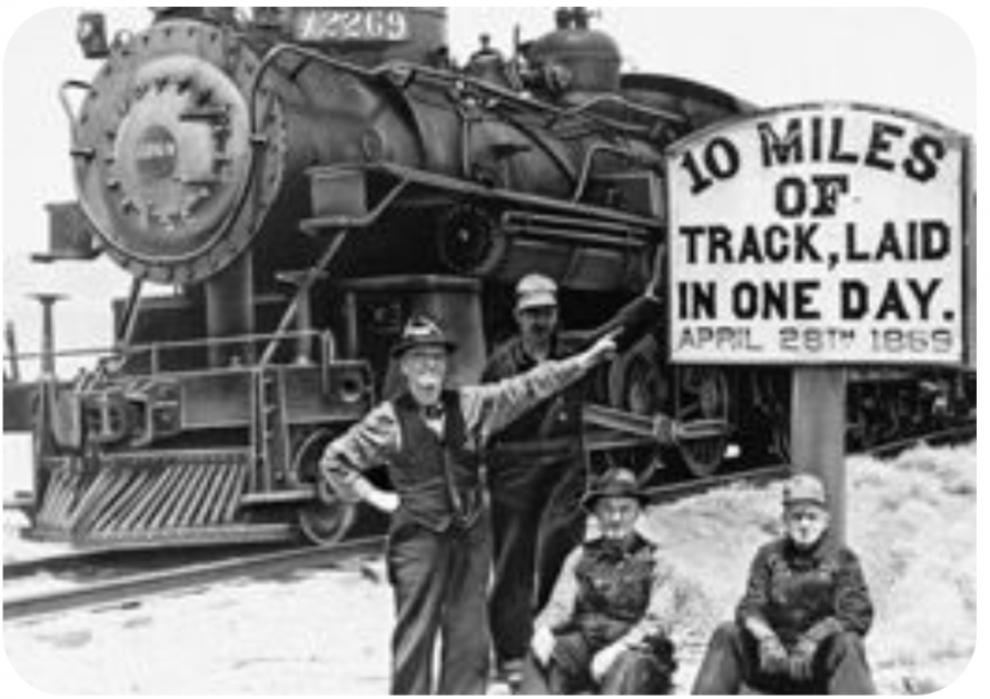 Rail official drives the golden spike in Promontory, UT