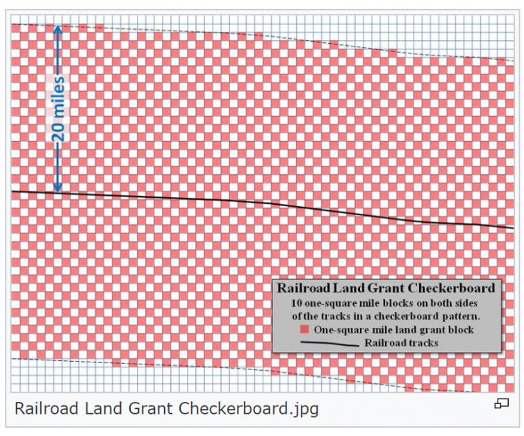 Railroad Land Grant Checkerboard