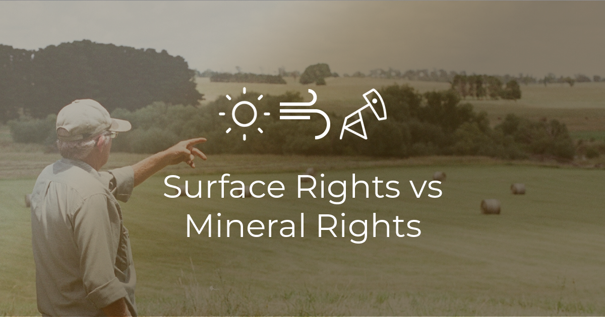 The difference between mineral rights and surface rights